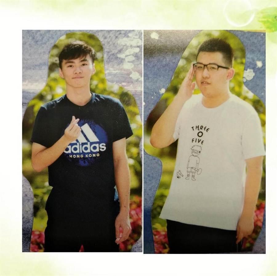 ▲國立中興高中鄭皓恩(左)錄取台灣師範大學電機系、施凱翔(右)錄取國立中山大學化學系。(楊樹煌翻攝)