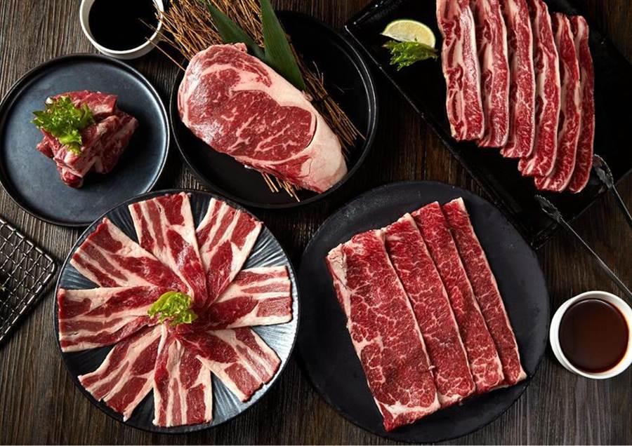 搶中秋烤肉商機,王品原燒推出「大口吃牛組」,總重1.1公斤並標榜讓客人完整吃到整隻牛。(圖/王品集團)
