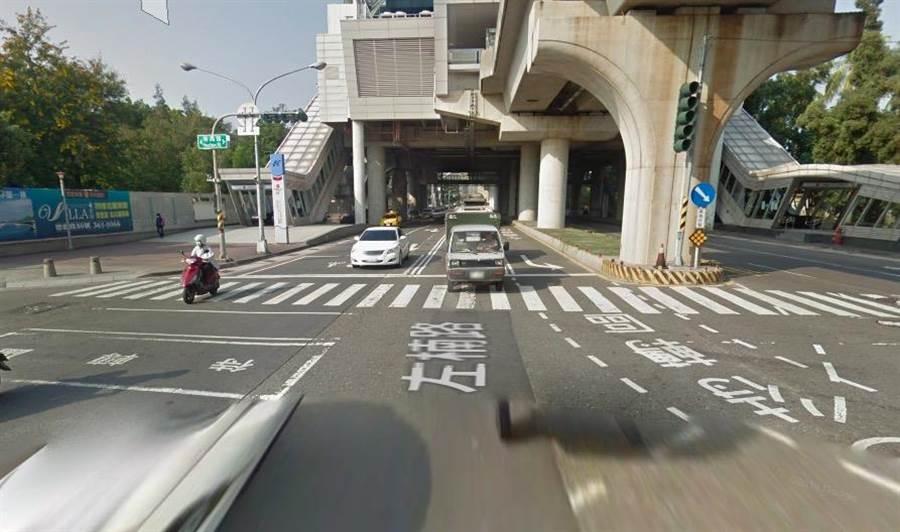 直行車輛勿行駛於左轉專用車道上,無論有無佔用事實,都將面臨600元罰鍰及違規點數1點的罰則。(袁庭堯翻攝)