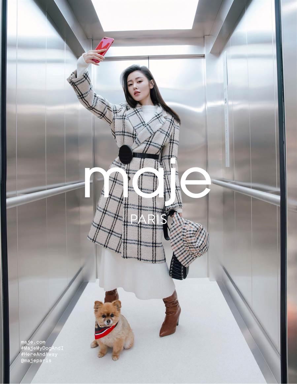 張天愛成為Maje 2019秋冬系列全球代言人。(圖/品牌提供)