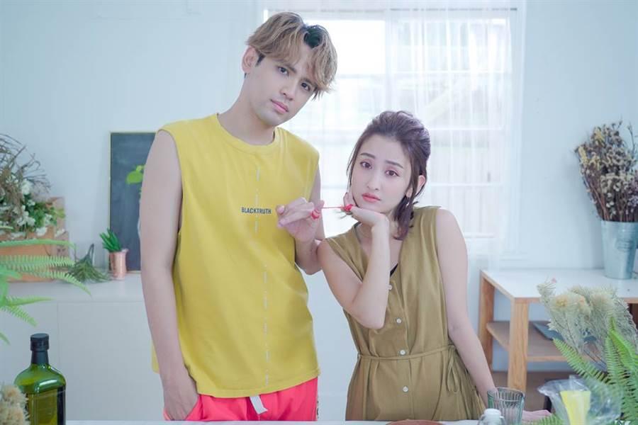 創作歌手陳零九與美女直播主張愛愛七夕共譜戀曲。(圖/17 Media提供)