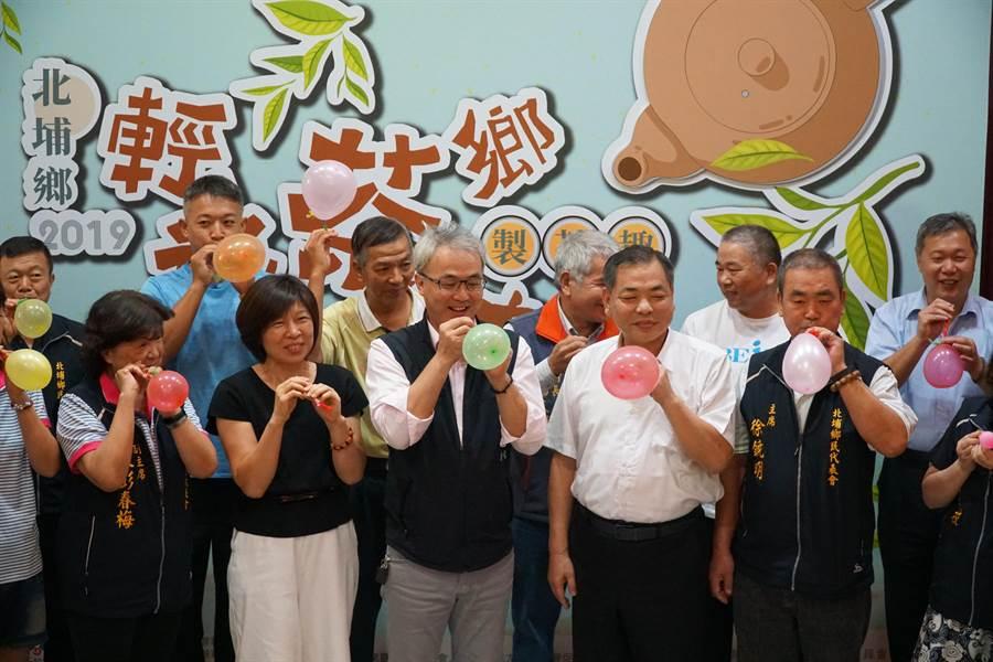 北埔鄉公所10、11日將舉辦膨風茶節活動,首屆膨風擂台賽先登場。(莊旻靜攝)