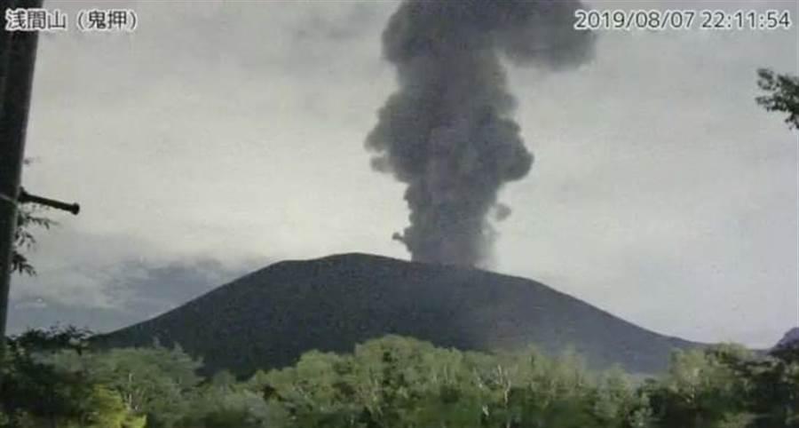 日本本州中部淺間火山爆發。(圖/日本氣象廳)