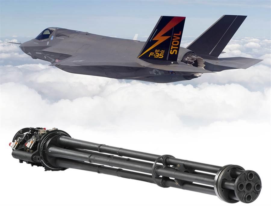 美軍陸戰隊F-35B測試外掛式GAU-22機砲艙,射擊的目標是綽號「殺手番茄」的海上氣球。(圖/洛克希德馬丁)