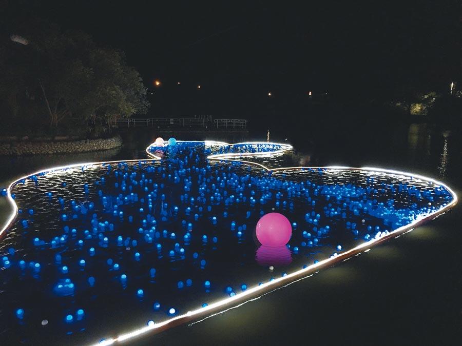 國立傳統藝術中心宜蘭園區7日至11日舉辦「傳藝祈緣星」,圖為日前試燈。(全聯善美的文化藝術基金會提供)
