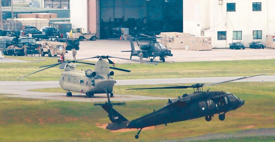 美軍海外最大基地南韓平澤基地。(CFP)