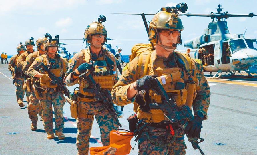 美韓5日開始夏季聯合軍演。圖為美國海軍陸戰隊參與軍演。(取自美國海軍官網)