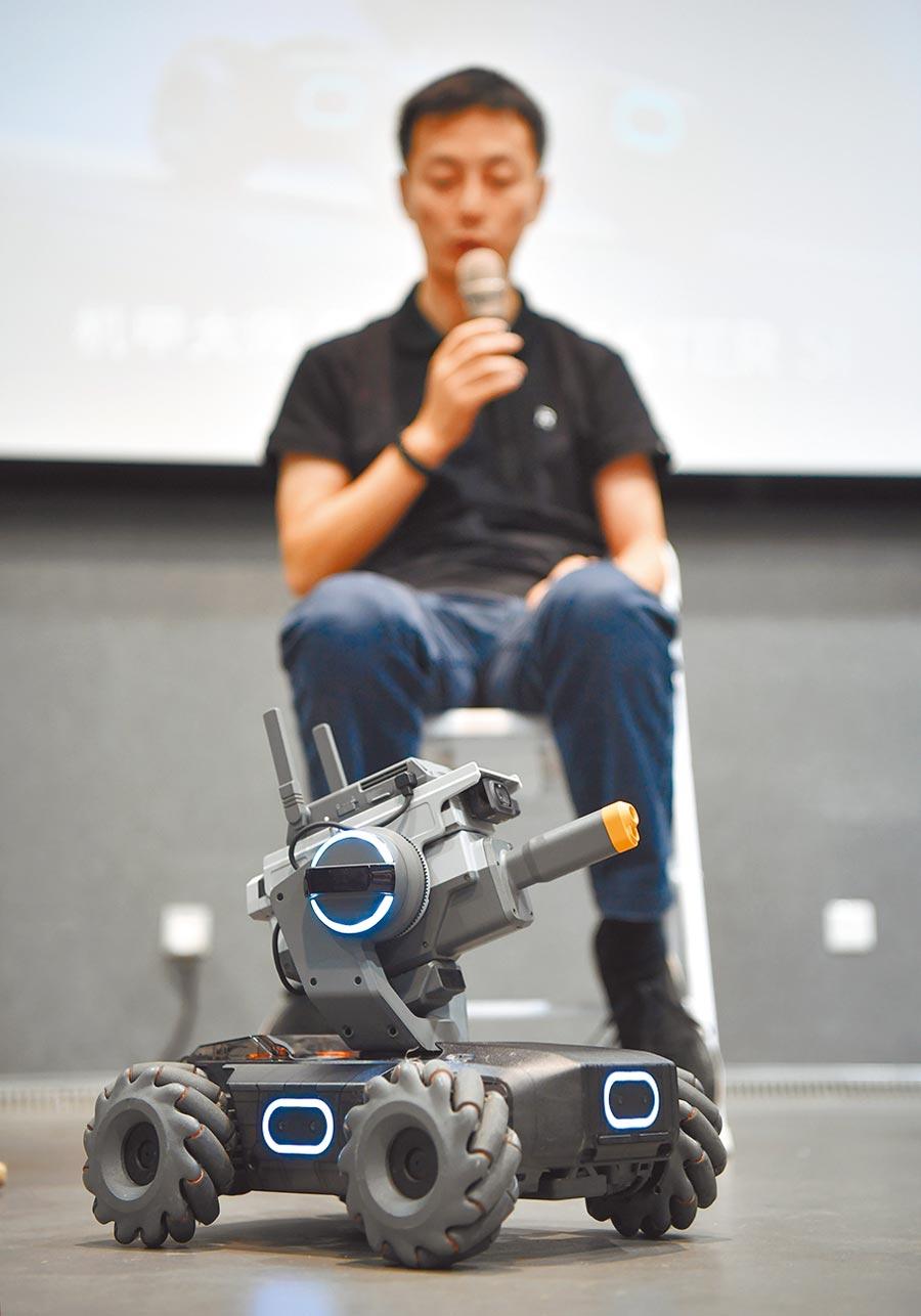 6月12日,大疆創新在北京發表教育機器人。(新華社)