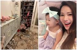 伊能靜一張圖曝光家中震後慘況 抱3歲女拚命往外衝
