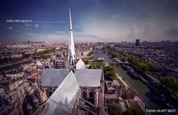 巴黎聖母院重建設計賽  陸學霸情侶奪冠