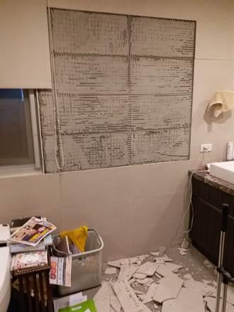 88大地震 知名媒體人大安區住宅有災情
