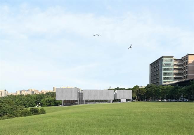 清華大學8日獲得校友謝宏亮慷慨捐贈,預計2020年將在校園南側大草坪旁興建1座一流的「謝宏亮現代美術館」。(陳育賢翻攝)