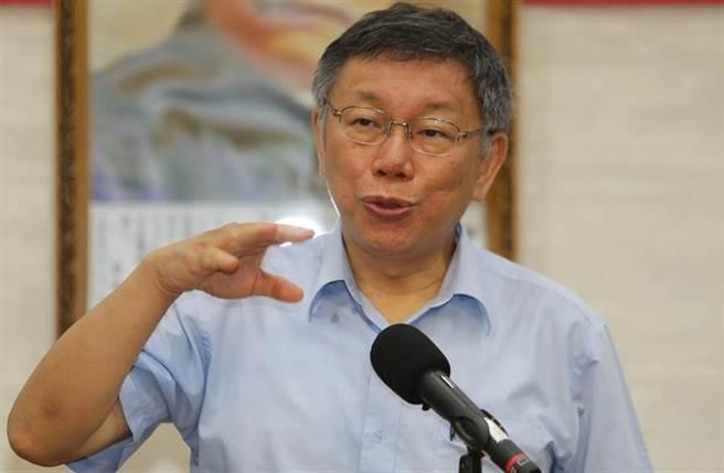 台北市長柯文哲。(中時資料照片)
