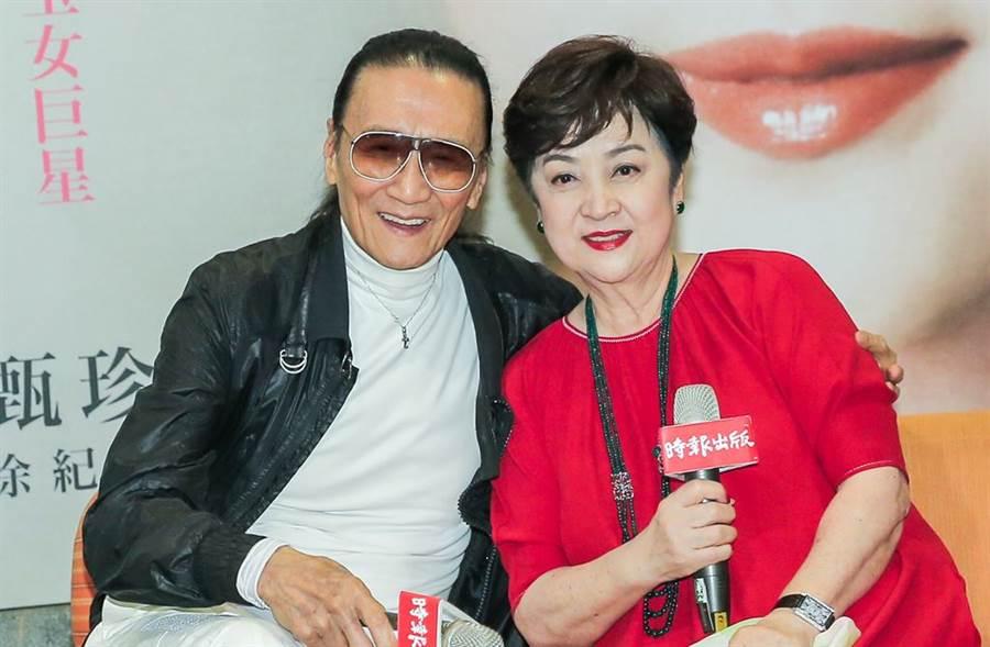 謝賢上月出席甄珍新書記者會,還告白「我永遠愛她」。(圖/中時資料照)