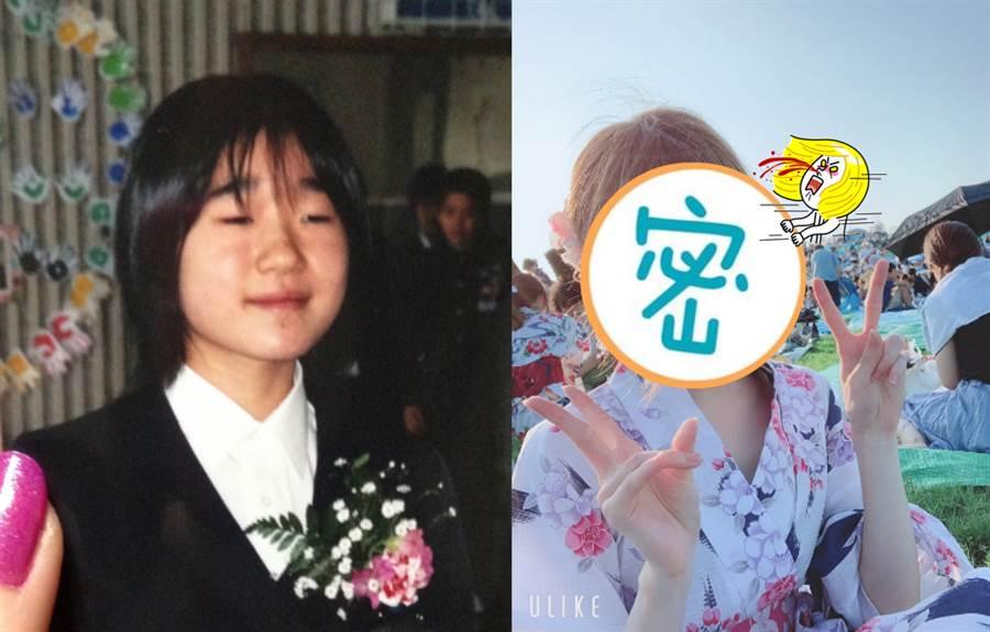 青澀妹被罵醜 減肥化妝反差驚人(圖/ 翻攝自推特@ SaLa_cos)