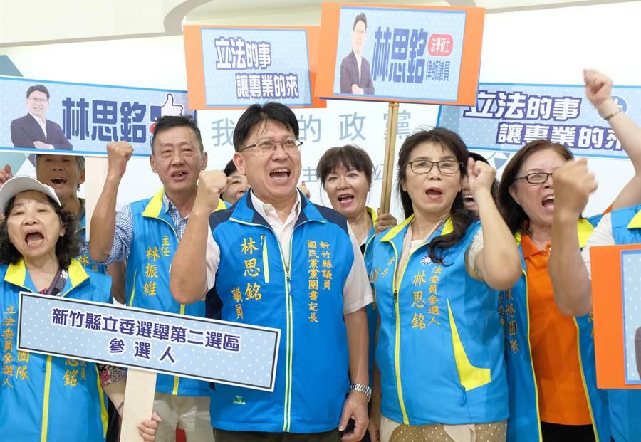 縣議員林思銘獲國民黨名參選2選區立委,已積極佈署備戰。 (羅浚濱攝)