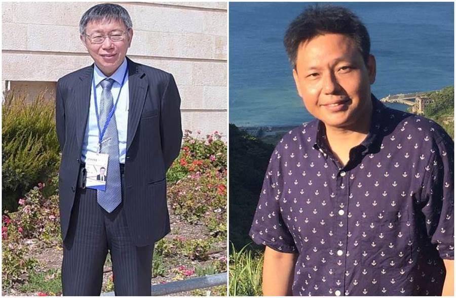 台北市長柯文哲成立「台灣民眾黨」,遭名嘴謝寒冰嘲諷。(圖/柯文哲、謝寒冰臉書)