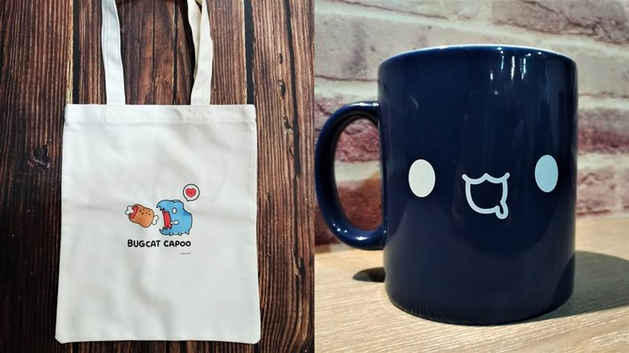 快閃店限定紀念品項:馬克杯、托特袋。(圖/品牌提供)