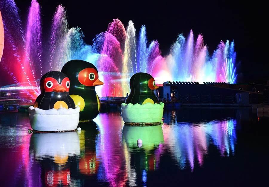 鯉魚潭「紅面鴨放暑假」活動為花蓮帶來大批暑期人潮,卻因颱風來臨,讓原訂11日結束的活動,在今日提前說掰掰。(花蓮縣政府提供)