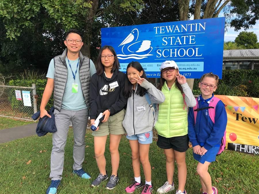 頭家國小游泳隊前往澳洲Tewantin State School進行英語、游泳等交流。(校方提供)