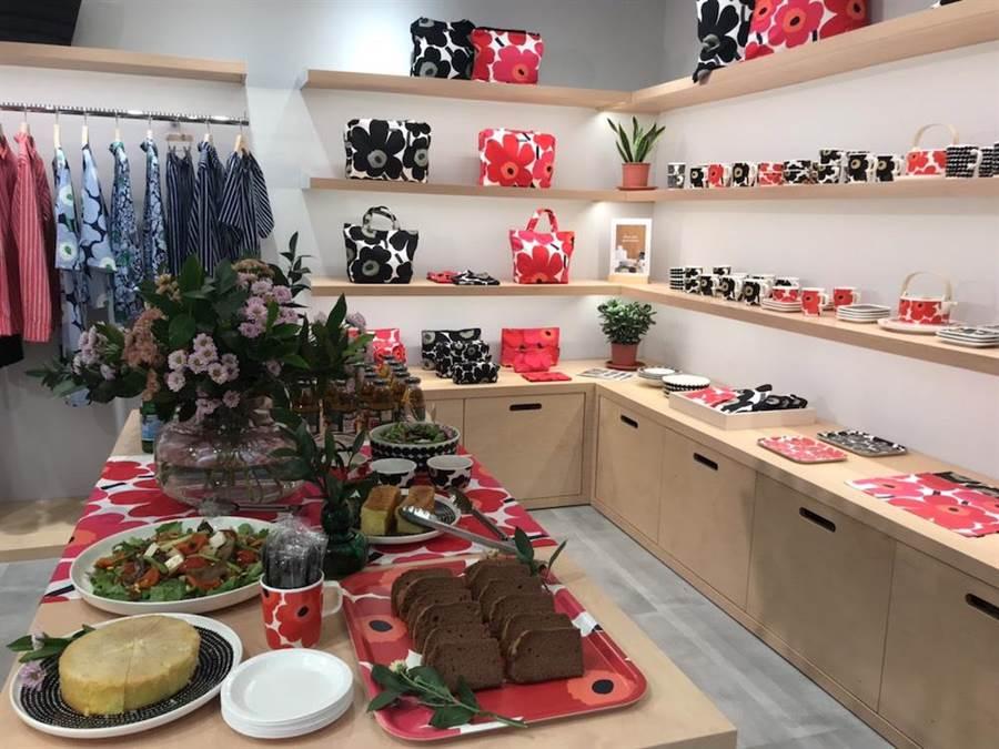 Marimekko在台中大遠百開設全新形象店。(潘鈺楨攝)