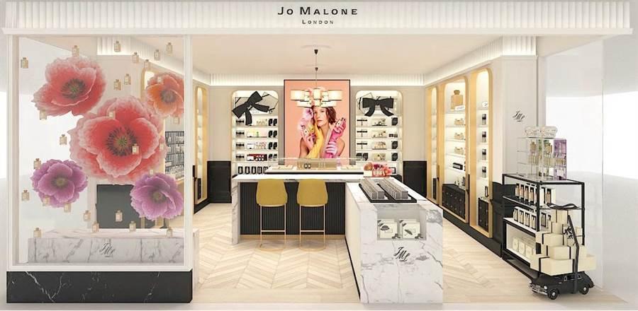 Jo Malone London 台北SOGO復興館形象概念店 店裝照。(Jo Malone London提供)
