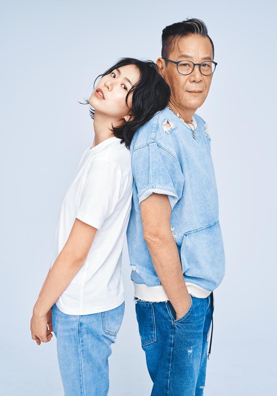龍劭華(右)對女兒陳璇入行當演員寄予厚望。