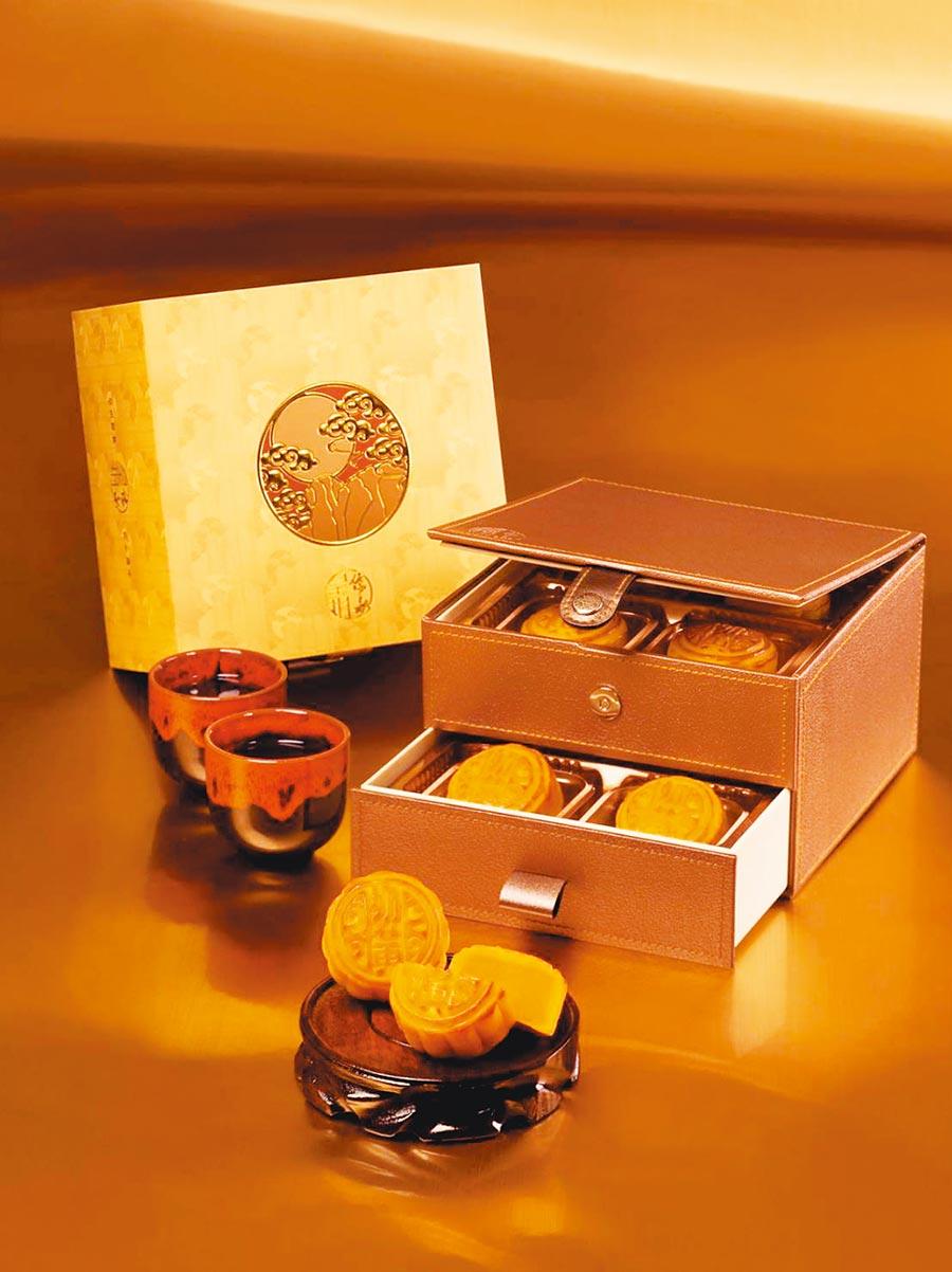 香港「皇玥餅藝」迷你奶皇月餅8入1198元。(皇玥餅藝提供)