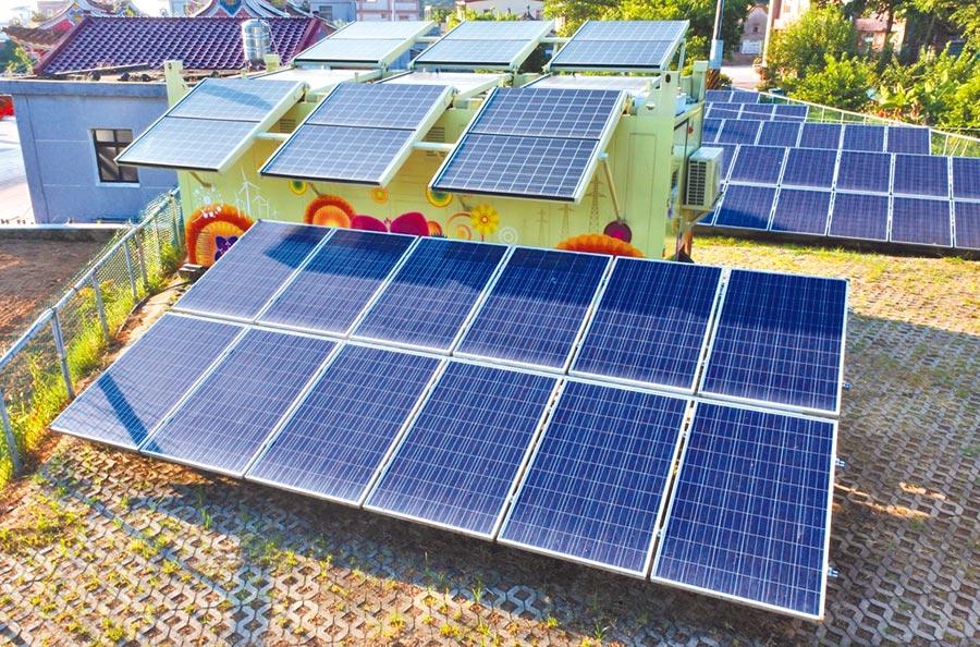 金門東坑社區型綠電系統。(本報系資料照片)