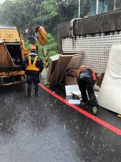 利奇馬颱風過後 新北環保局已清逾300公噸垃圾
