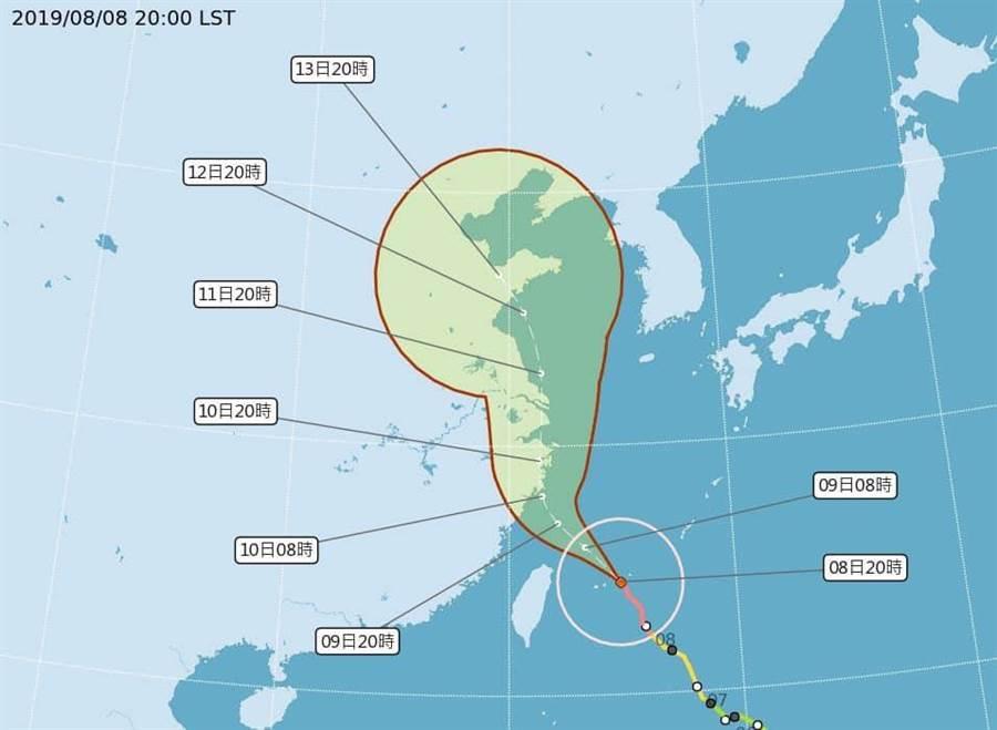 利奇馬來襲,苗栗山區風雨漸強,泰安鄉已宣布停班停課。(巫靜婷翻攝)