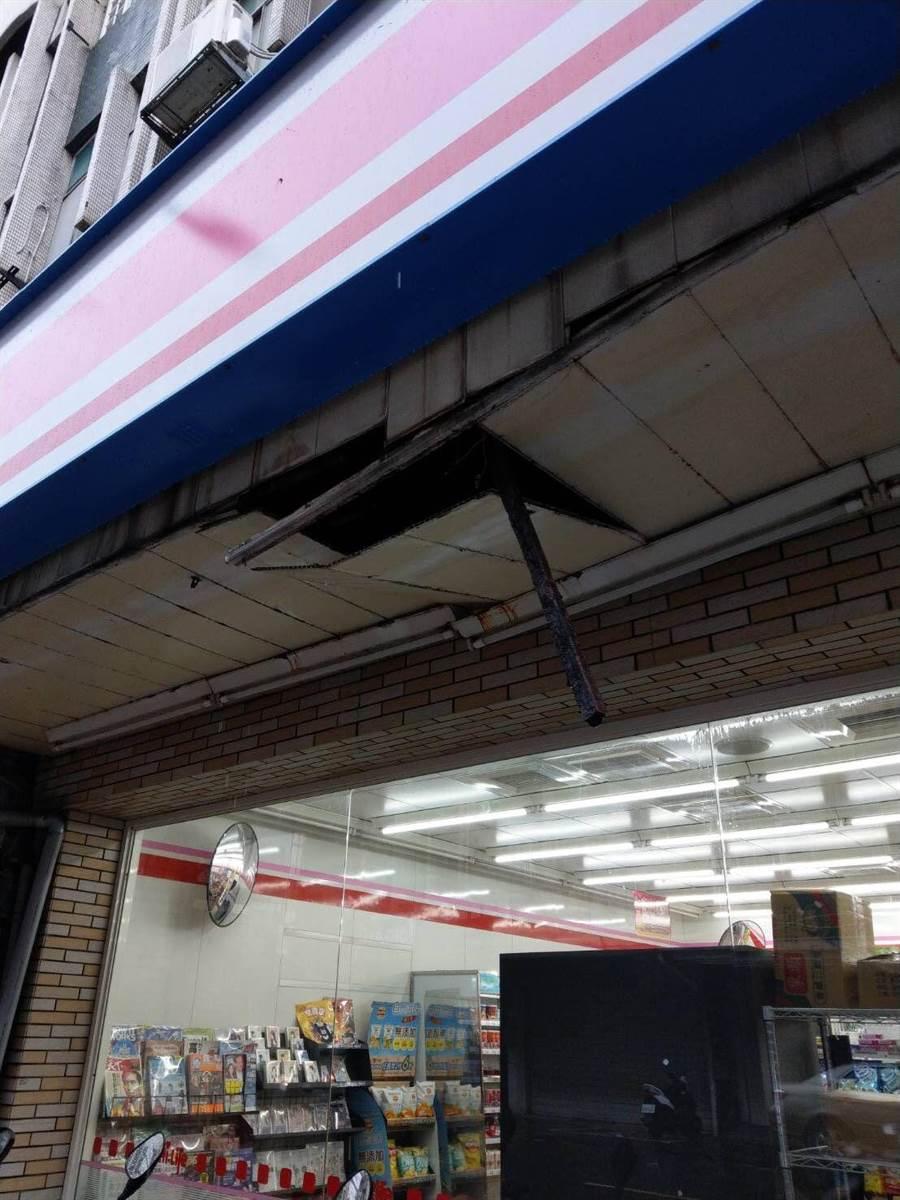 萊爾富5門市上午傳出颱風災損,狀況已排除。(萊爾富提供)