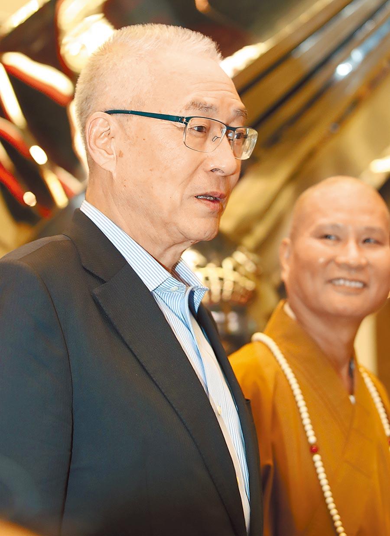 國民黨整合郭台銘、王金平仍混沌不明,圖為國民黨主席吳敦義。(本報系資料照片)