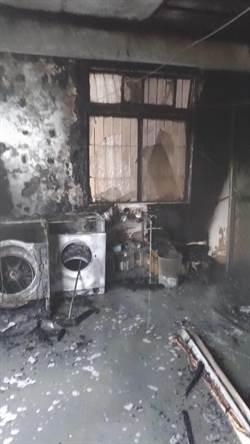台中東區清晨火警 4人受困幸逃脫