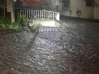 影》潭子灌溉溝橋涵附掛管線害淹水  3月淹水2次