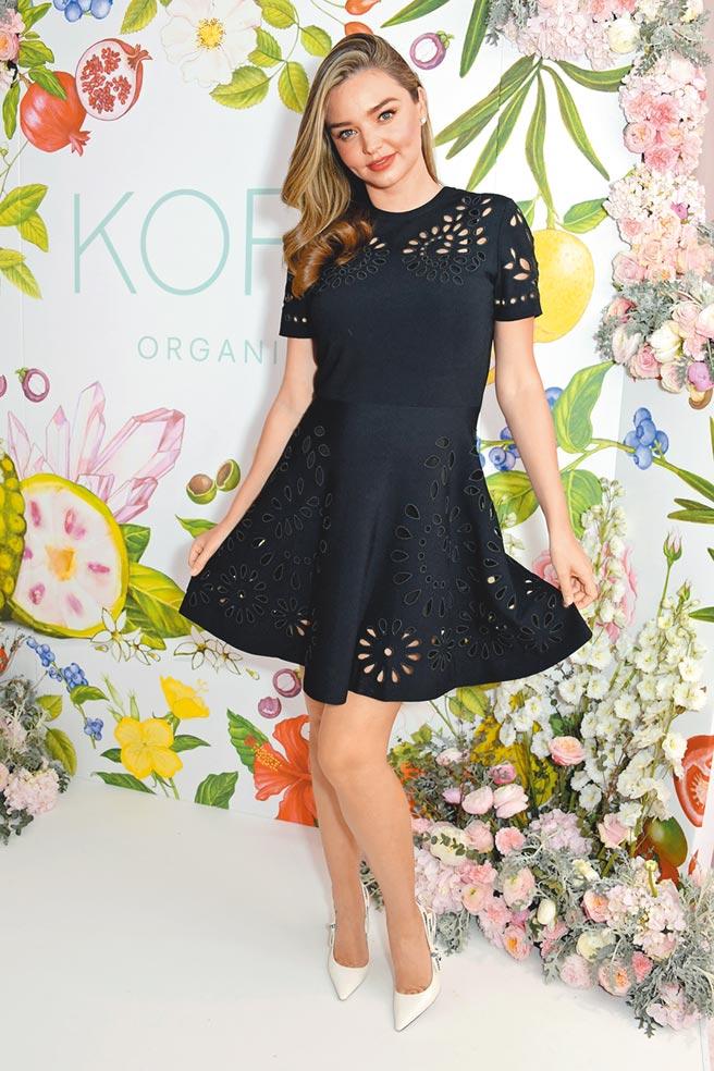 米蘭達可兒孕後也是狂穿Valentino高腰娃娃裝。(CFP)
