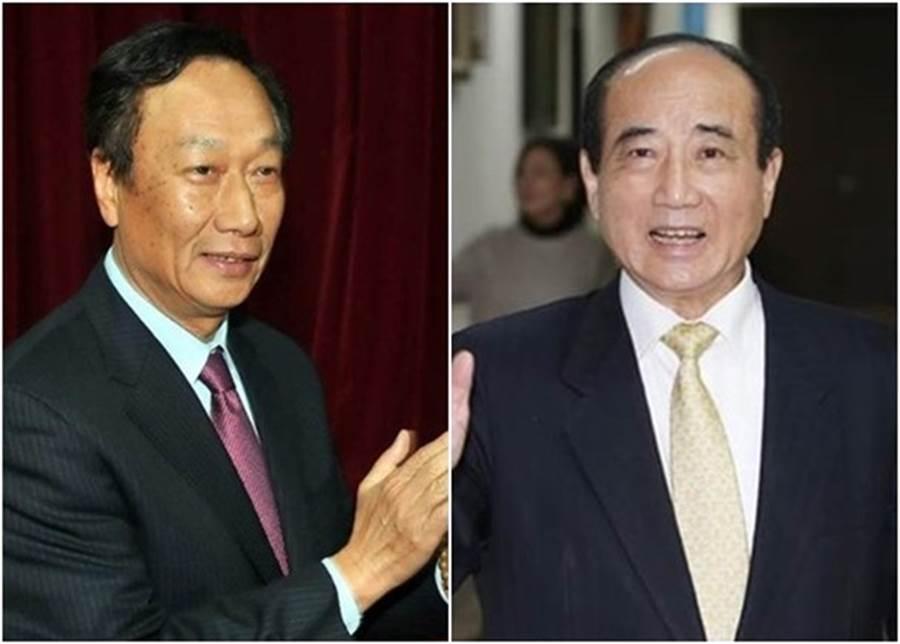 王金平(右圖)表示郭台銘(右圖)希望與他見面。(中時電子報圖片)