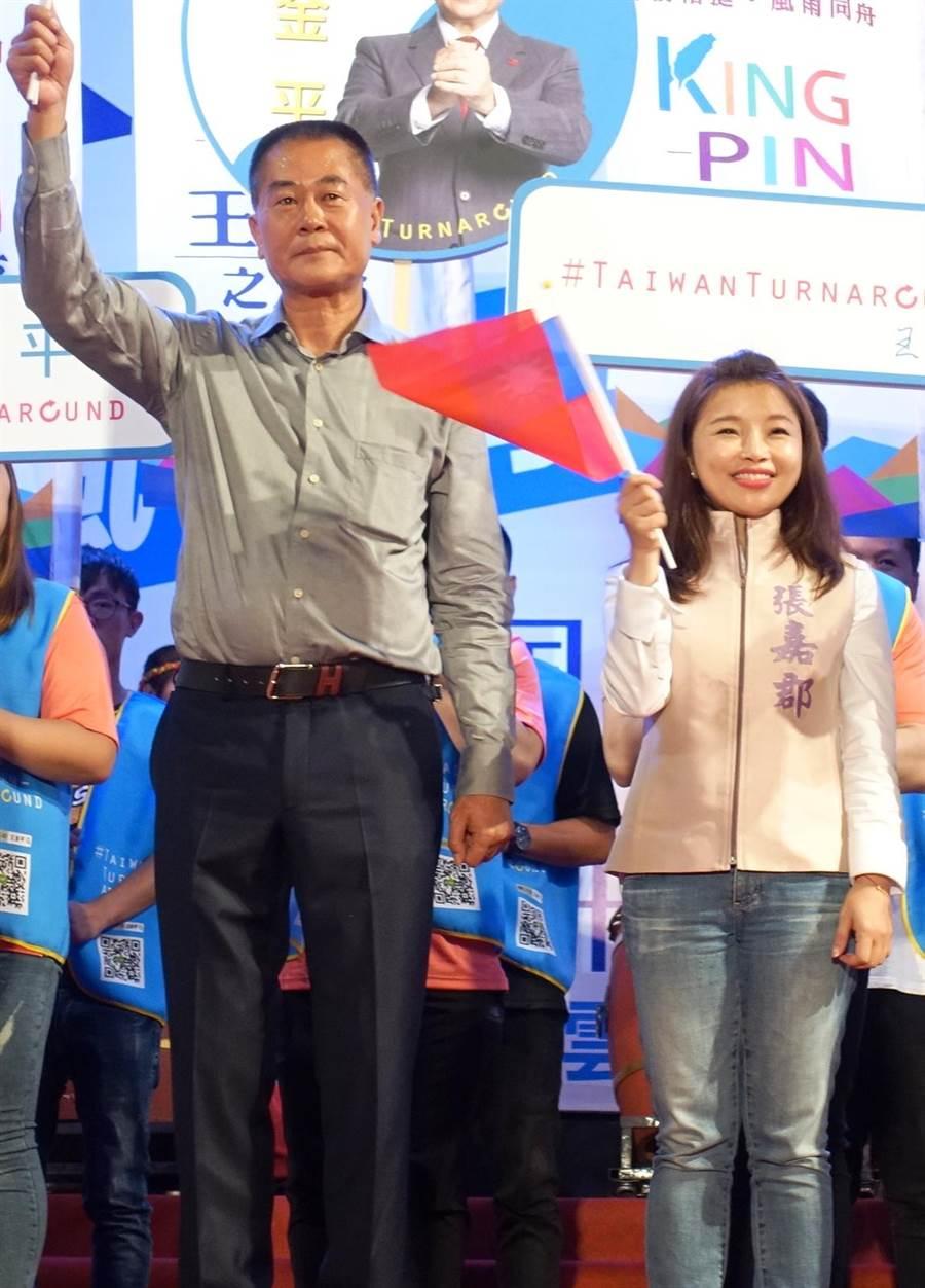 雲林縣海線立委選舉國民黨林文瑞(左)退讓,張嘉郡出線。(資料照片/周麗蘭攝)