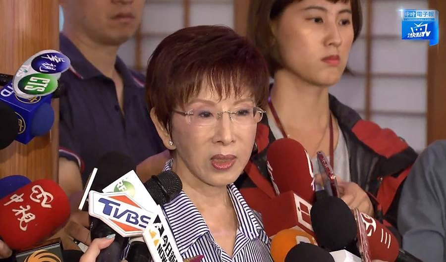前國民黨主席洪秀柱表態願意為國民黨挑戰艱困的台南市立委第六選區,並已遷戶籍到當地。(圖/中天新聞)