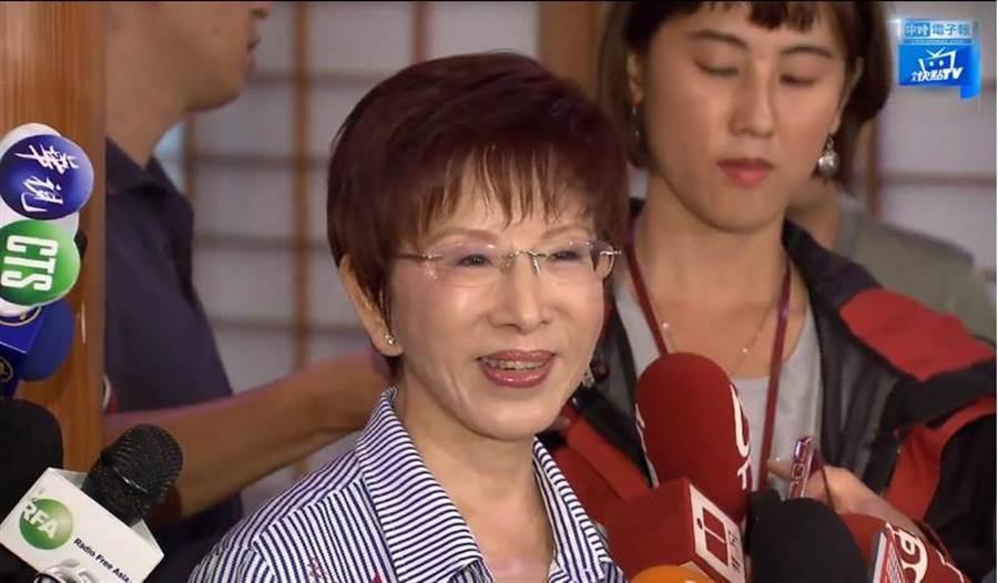 國民黨前主席洪秀柱表態願意為國民黨挑戰艱困的台南市立委第六選區,並已遷戶籍到當地。(摘自中天新聞)