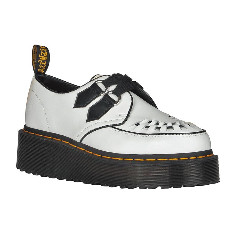 QUAD CREEPERS尖頭編織厚底鞋,6880元。(Dr.Martens提供)