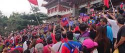 韓國瑜在南投7座宮廟之旅 熱情支持者風雨無阻