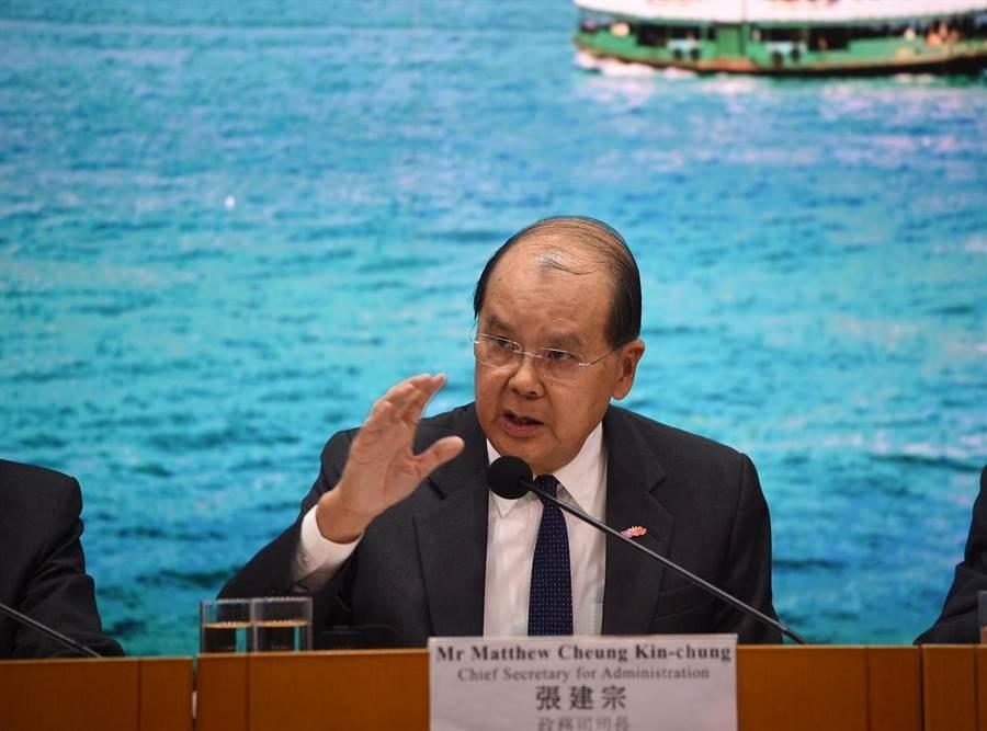 張建宗擔憂香港狀況若未改善,恐出現裁員潮。