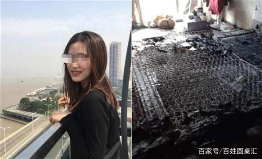 天津24歲少婦遭他人闖入家中爆頭焚屍。(圖片取自微博)