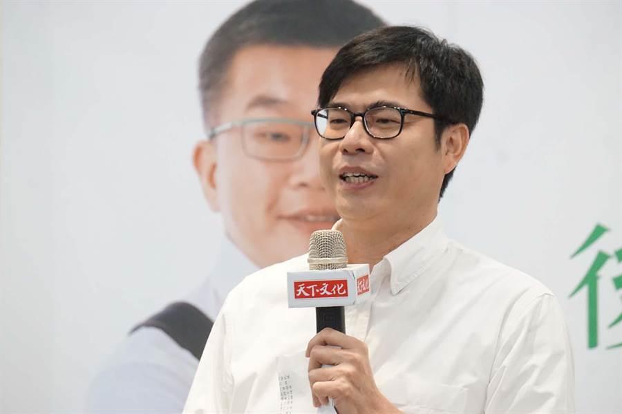 行政院副院長陳其邁曾批評,高雄市長韓國瑜未坐鎮高雄,「心跟本不在這」。(柯宗緯攝)