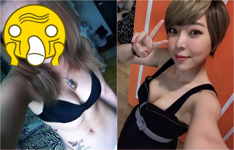 宛宛兒自曝自己5年前舊照(左),網友嚇傻驚呼問「哪間的美容院阿姨?」(合成圖/翻攝自宛宛兒臉書)