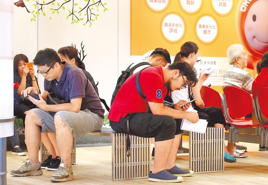 受畢業旺季影響,今年6月20至24歲青年失業率飆升至12.2%,首次破12%。(本報資料照片)