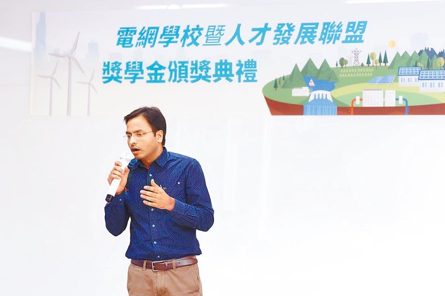 從印度前來台灣學習電力知識的的學生康馬舒(SUSHIL KUMAR)。(工研院提供)