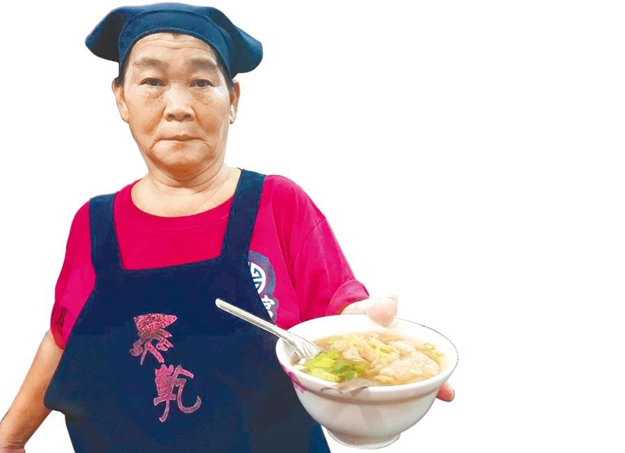 「黑乾溫州餛飩大王」的餛飩搭配湯和麵,相當有飽足感。(劉宥廷攝)