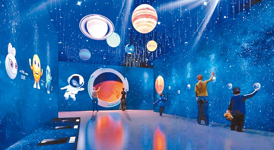 「HELLO火星」3D數位太空展在上海等地展出,十分受歡迎。(取自數字展示在線)